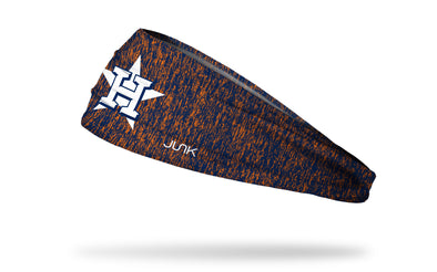 static headband with Houston Astros logo in white