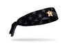 black and white american flag headband with Houston Astros logo in full color