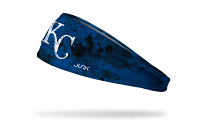 grunge overlay headband with Kansas City Royals logo in white