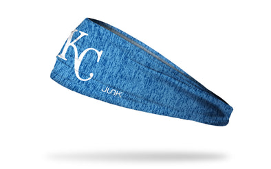 static headband with Kansas City Royals logo in white