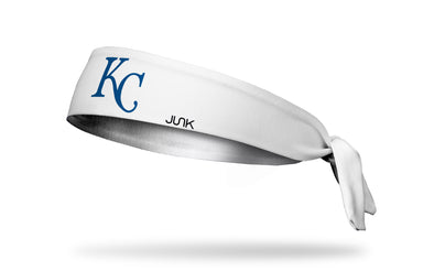 Kansas City Royals KC Blue on White Headband