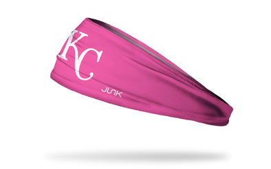 Pink headband with kansas city royals logo in pink