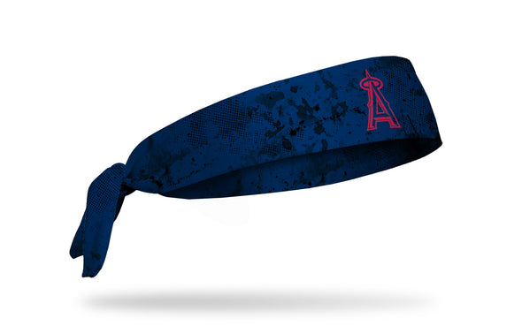 grunge overlay headband with Los Angeles Angels logo in white