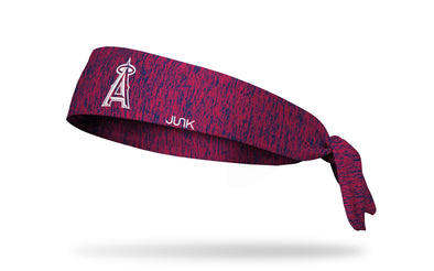 static headband with Los Angeles Angels logo in white