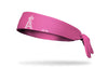 Pink headband with los angeles angels logo in pink