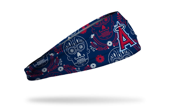 Los Angeles Angels hispanic heritage night headband with sugar skull design