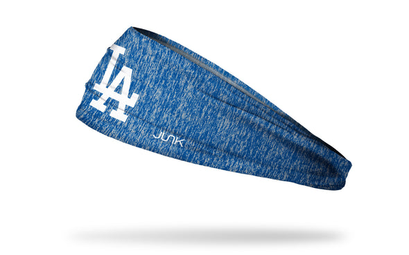 static headband with Los Angeles Dodgers logo in white