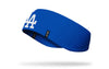 royal blue ear warmer with Los Angeles Dodgers L A logo in white