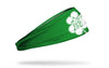 green headband with Miami Marlins logo on white shamrock