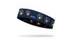 navy headband with Milwaukee Brewers yellow logo
