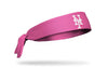 Pink headband with new york mets logo in pink