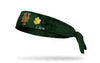 green headband with gold shamrock to right of New York Mets logo