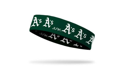 Oakland Athletics: White A's Headband
