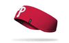 red ear warmer with Philadelphia Phillies P logo in white
