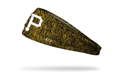 static headband with Pittsburgh Pirates logo in white