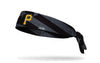 black and white american flag headband with Pittsburgh Pirates logo in full color