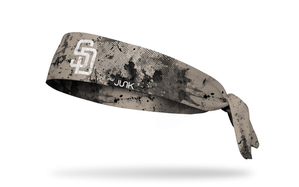 grunge overlay headband with San Diego Padres logo in white