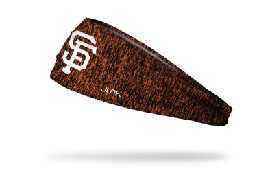 static headband with San Francisco Giants logo in white