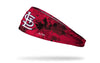 grunge overlay headband with St. Louis Cardinals logo in white