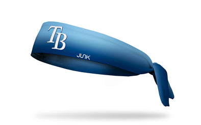 light blue to navy gradient headband with Tampa Bay Rays logo in white