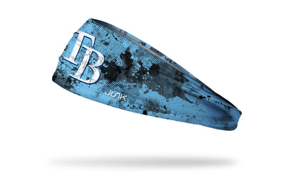 grunge overlay headband with Tampa Bay Rays logo in white
