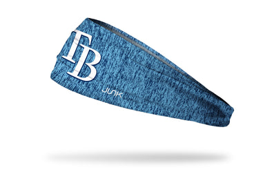 static headband with Tampa Bay Rays logo in white