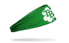 green headband with Tampa Bay Rays logo on white shamrock