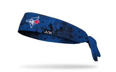 grunge overlay headband with Toronto Blue Jays logo in white