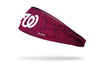 static headband with Washington Nationals logo in white