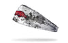 white headband with grunge overlay and University of Arkansas logo