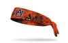orange grunge layover headband with Auburn University logo in navy