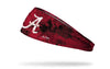 red headband with grunge overlay and University of Alabama logo