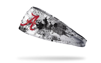 white headband with grunge overlay and University of Alabama logo
