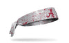 gray headband with paint splatters and University of Alabama logo