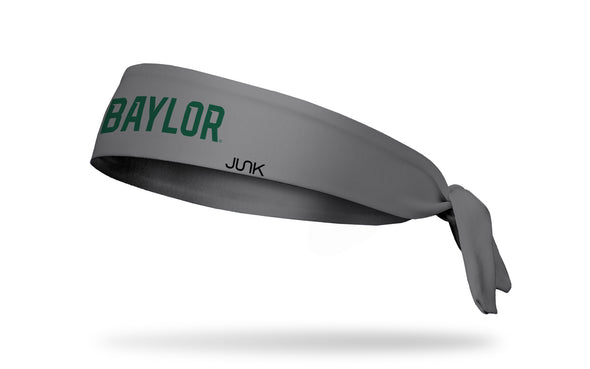dark gray headband with Baylor University Baylor wordmark in green