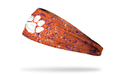 Clemson Tigers: Splatter Orange Headband