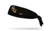 black headband with Florida State University FSU letter logo