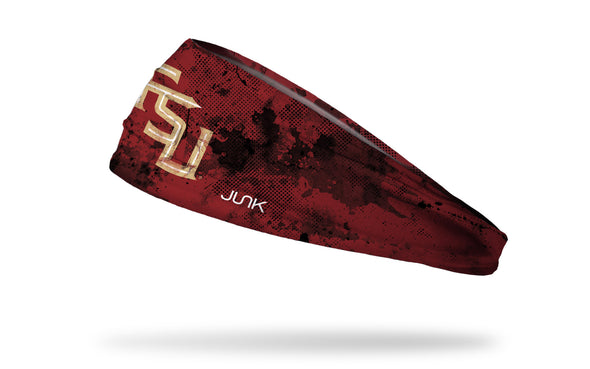 red headband with Florida State University logo and black grunge overlay