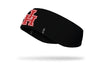 black ear warmer with University of Houston U H logo in red and white