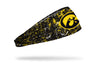 University of Iowa: Splatter Black Headband