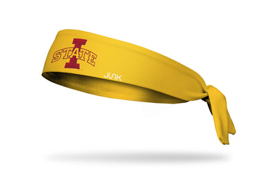Iowa State University: Logo Gold Tie Headband