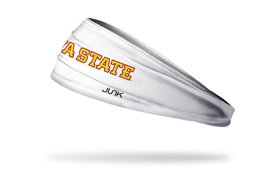 Iowa State University: Wordmark White Headband
