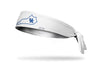 white headband with Kentucky state outline and University letter logo in royal blue