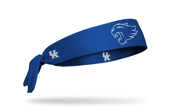 royal blue headband with University of Kentucky wildcat mascot logo in white outline