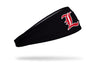 black headband with University of Louisville baseball logo in red