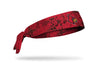 red grunge layover headband with Univeristy of Louisville bird logo full color