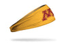gold headband with University of Minnesota M logo in maroon
