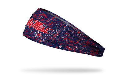 University of Mississippi: Splatter Navy Headband