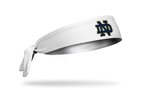 University of Notre Dame: Logo White Tie Headband