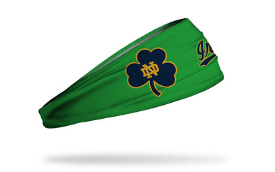 University of Notre Dame: Oversized Clover Green Headband
